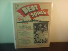 Original Best Songs Magazine ~ April 1969 with Jimi Hendrix Experience on Cover