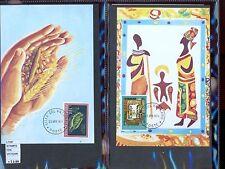 STAMPS 2 CARD MAXIMUN VATICAN CITY POPE (L7287)