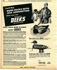 1956 Print Ad of Deeks Self Inflating Duck Hunting Decoy