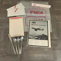 VINTAGE LOT TWA AIRLINES Collectible NOTE PAD Silverware, Employment Application