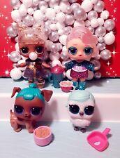 LOL Surprise Doll Lot 4 Dolls & Accessories. Owl Dog Prezzi Snow Leopard 14 PCS