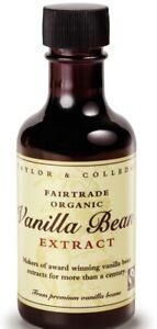 2x100ml Bourbon-Vanille Extrakt Taylor & Colledge BIO Vanilleschoten Extrakt BIO