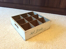 Large Drinks Holder Tray 9 Beer Bottle Drinks Crate Vintage Retro Wooden Display