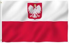Poland Eagle Flag Polish National Banner Polyester 3x5 Foot Country Flags
