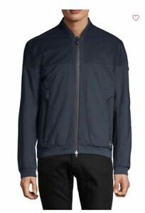 New Men's HUGO BOSS Jasculin Track Jacket Color Navy, Size XL
