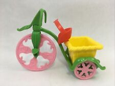 Vintage 1982 Strawberry Shortcake Berry Cycle Tricycle Cart Doll Accessory