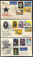 GHANA 1958-9 8 FDCS FIRST DAY COVERS INC INDEPENDENCE