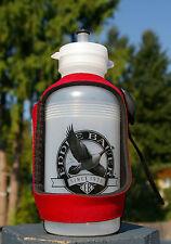 Eddie Bauer Water Bottle Red Neoprene Sleeve Since 1920 Canadian Goose Logo
