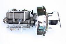 "Impala BelAir 9"" Chrome Power Brake Booster master cylind Bottom Disc/Drum 4FB92"