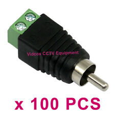 100 UTP CAT5 CAT6 to AV Phono Male RCA Connector Jack for CCTV Camera Microphone