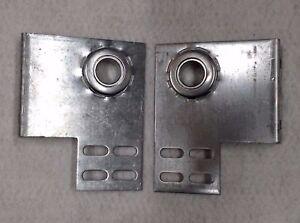 "Pair 6.5"" x 5"" Commercial Garage Door End Bearing Plate Bracket 3 3/8"" 1"" Bore"