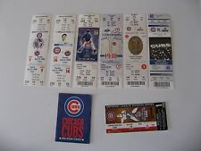 Assorted Vintage Chicago Cubs unused game tickets plus player cards