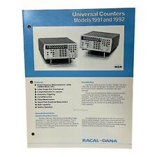 RACAL-DANA MODELS 1991 & 1992 UNIVERSAL COUNTERS TECHNICAL DATA SHEET