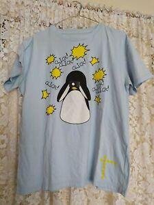 Creative tee design for graphic penguin men's T shirt size M