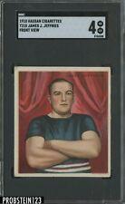 1910 T218 Hassan Cigarettes Boxing James j. Jeffries Front View SGC 4 VG-EX