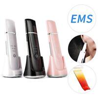 Facial Skin Scrubber, Misiki Face Skin Spatula, Ultrasonic EMS Ion Face Massager