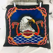 Vintage Harley Davidson American Legend Eagle Bandana Handkerchief Made in USA