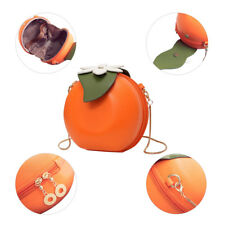 Cute Girl shoulder Bag Orange Shape Satchel Purse Round Handbag Chain Casual NEW