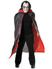 Mens Long Black Red Cape Cloak Vampire Dracula New Fancy Dress Gothic Halloween