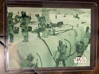 """2019 Topps Star Wars Black & White Green Hue #24 """"Rebels In The Trenches"""" /99"""