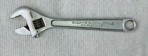 "WILLIAMS SUPERJUSTABLE crescent wrench WRENCH  8 in. Made in the USA 8"" used"