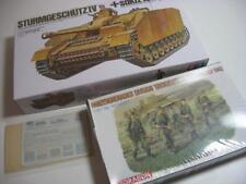 Tamiya Sturmgeschutz Stug IV & Dragon Figures Mixed job lot 1/35 Model kits