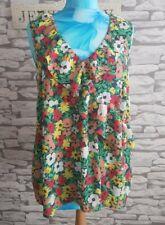 Multicolour Floral frilled Vest Top Blouse Size 14 uk cool summer women's ladys
