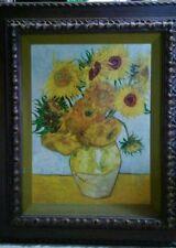 Vintage Van Gough Sunflowers reproduction framed wall art