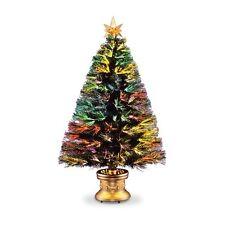 Fiber Optic Firework Evergreen Christmas Tree, 30X30X60