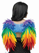 Deluxe Rainbow Feather Wings Halloween Costume Accessory fnt