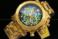 NEW Invicta 52MM COALITION FORCES 18K Gold Plated ABALONE DIAL Chrono S.S Watch