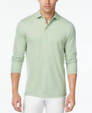Tasso Elba Mens Micro-Grid Long-Sleeve Polo Lime In Da Cocout Mens XL New