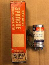 Nos Nib Sprague 125 + 100 uf at 150v + 150v Tvl-2443.3 Can Capacitor