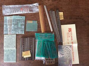 Vintage computer spare parts. Heat sinks, strips etc