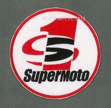 SuperMoto toppa ricamata termoadesivo iron-on patch Aufnäher