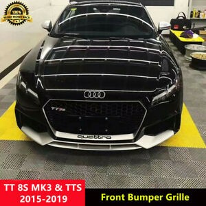 TT Silver Front Bumper Grill Grille for Audi TT MK3 8S TTS 2015-2019 To RS Style