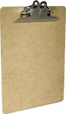 Saunders Klemmbrett, A4 Natur Hartfaser, Klemmmappe, Schreibplatte, Schreibbrett