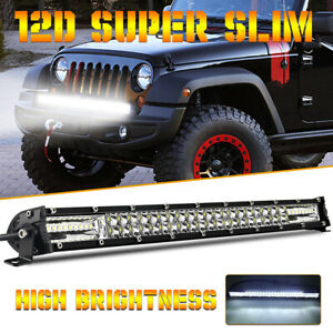 1x 20'' Slim 300W LED Work Light Bar Offroad Boat Truck Lamp Spot Flood Combo