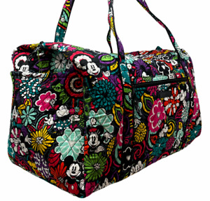 VERA BRADLEY Large Duffel Bag In MAGICAL BLOOMS Disney Retired Excellent Cond