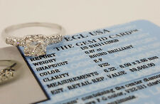 1.05 ct Vintage Platinum Round Cut Diamond Engagement Ring  EGL Rtl $9,640
