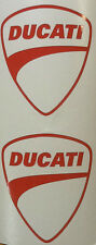Ducati, RED Logo Tank, Helmet Decal, Set of 2