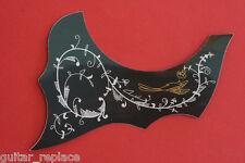 Salvapuas Negro Guitarra Clásica Con Motivos Golpeador Scratchplate  Guardapuas