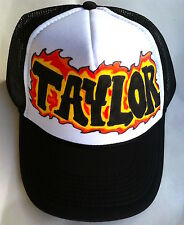 Taylor Any Name Gift Trucker Hats Caps Personalized Custom Graffiti Airbrush Art