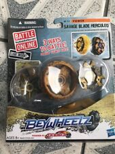 Brand New!!! Beywheelz Savage Blade Herculeo W-11 Power Launchers Battlers Cards