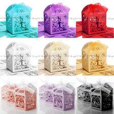 20 cajas de estilo de lujo Pájaro Boda Fiesta Favor Regalo Caramelo Pastel Dulces Corte Láser