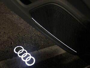 🔥 🔥🔥 2 NEW DESIGN AUDI RINGS PUDDLE LIGHT BEAM 4G0052133G SET OF TWO NEW OEM