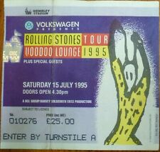 ROLLING STONES VOODOO LOUNGE TOUR ORIGINAL 1995 WEMBLEY TICKET STUB