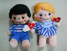 Vintage 1983 Kamar Handmade Love Is Sharing Plush Cloth Dolls Made in Taiwan
