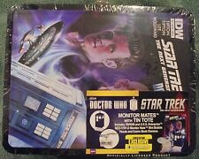 DR WHO STAR TREK NEXT GENERATION MONITOR MATES TIN TOTE
