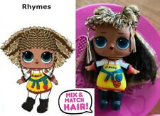 LOL SURPRISE HAIRVIBES RYHMES BAMBOLA DOLLS SCUBA BABE JELLY DISCO SUPREME QUEEN